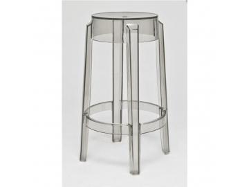 5137 barova stolicka duch 66 cm inspirovana ghost siva transparentna