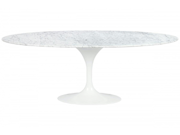 Jedálenský stôl TULIP ELLIPSE MARBLE CARRARA