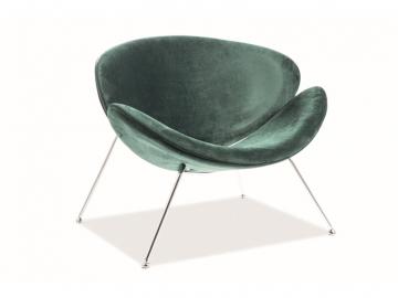 majorv78ch fotel major velvet zielony bluvel 78 chrom