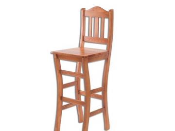 Barová stolička - masív KT111   borovica