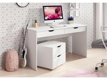 moderný biely písací stolík Mati