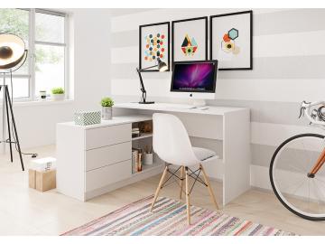 nadčasový rohový písací stolík Teo