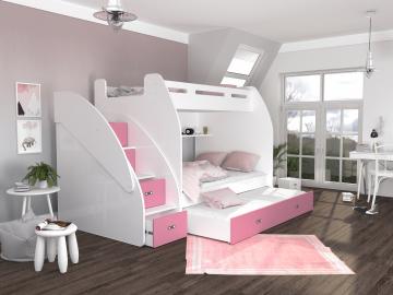 Detská poschodová posteľ s prístelkou ZUZIA 3 (5)