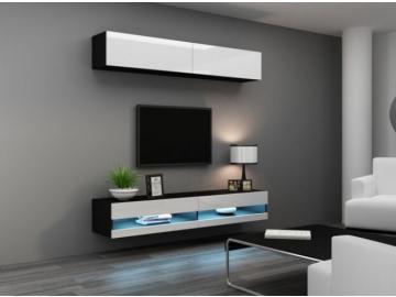 Obývacia stena Vigo X new čierna-biela