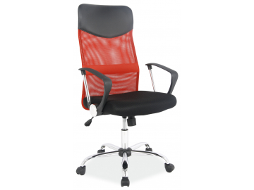 Červené kancelárske kreslo Q025 v nadčasovom dizajne