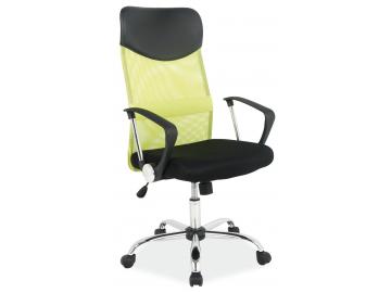 Zelené kancelárske kreslo Q025, vyrobené z priedušnej látky