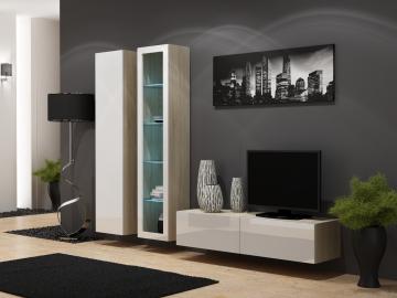 Obývacia stena Vigo 10 dub sonoma/biely lesk