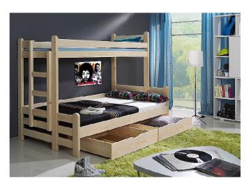 Detská poschodová posteľ Beniamin II