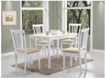 Jedálenský stôl FIORD biela