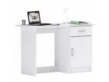 kvalitný PC stôl SIRISS v dokonalom bielom prevedení