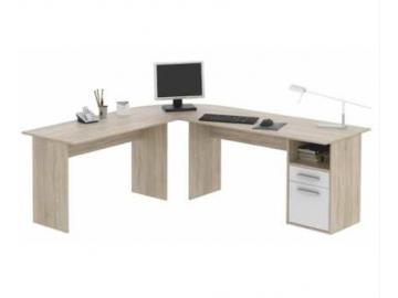 Rohový PC stôl maurus v jednoduchom vzhľade
