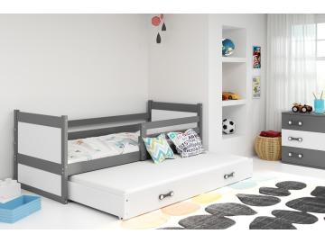 Detská posteľ Rico s prístelkou sivá