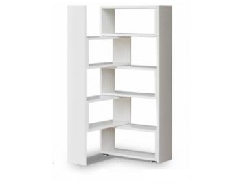 moderný biely regál KLOE v praktickom prevedení