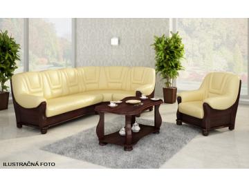 Rohová kožená sedacia súprava ROMA / 2,40x2,80 m