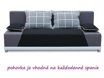 Pohovka ROKAR / čierna-sivá