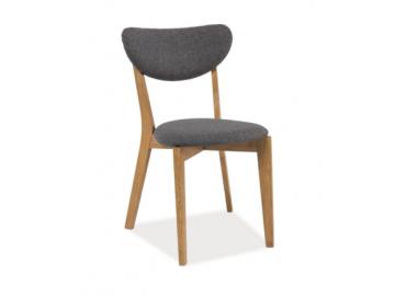 Jedálenská stolička ANDRE / dub - sivá