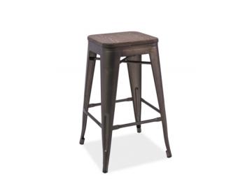 Barová stolička LONG / tmavý orech - grafit