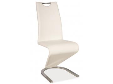 Jedálenská stolička H-090 chróm / biela
