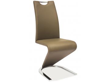Jedálenská stolička h-090 chróm / cappuccino