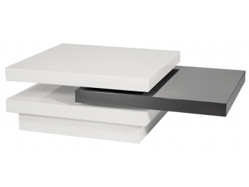 Konferenčný stolík TRISTA biela/sivá