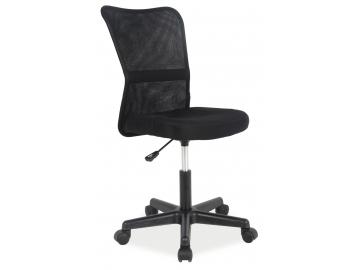 čierne kancelárske kreslo Q-121 v modernom dizajne