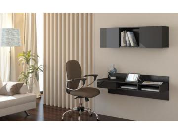 čierny závesný PC stolík UNO v dokonalom vzhľade