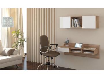 hnedý závesný PC stolík UNO