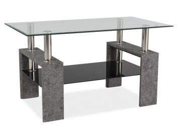 Konferenčný stolík LISA III / sivý kameň