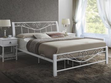 Manželská posteľ PARMA 180 / biela