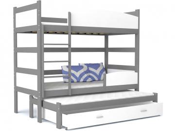 detska pochodiova postel TWIST 3 siva biela