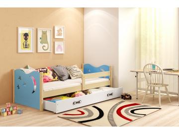 Detská posteľ Mikolaj borovica modrá