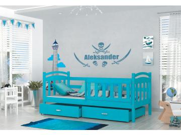 krzyš detská posteľ Krzyš modrá