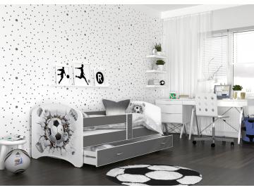 detska postel LUCKY biela 21L siva
