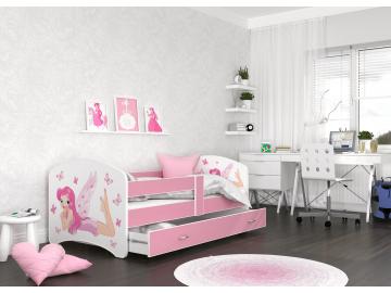 detska postel LUCKY biela 04L ruzova detail