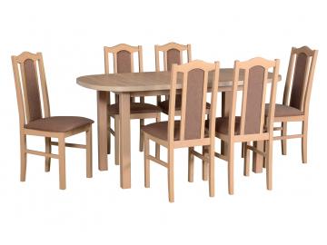 WENUS 1 BOSS 2 moderny dreveny jedalensky set so stolickami