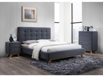 moderna siva manzelska postel MELISSA
