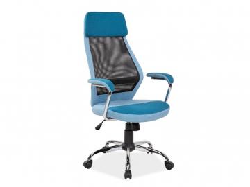 moderne modre kancelarske kreslo Q 336