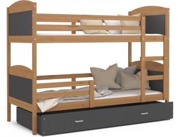 poschodova postel MATEUSZ jelsa siva