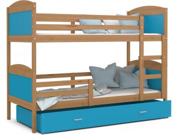 poschodova postel MATEUSZ jelsa modra
