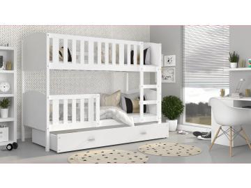 Detská poschodová posteľ Tami / biela