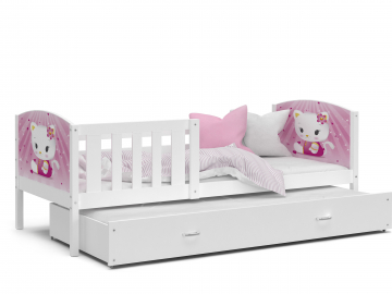detska postel s pristelkou TAMI P2 biela