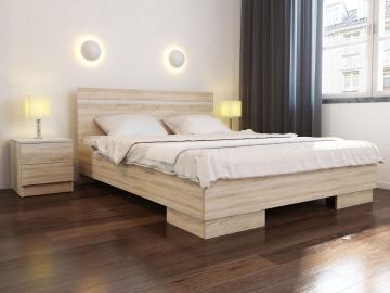 moderna manzelska postel VISTA 160 dub sonoma