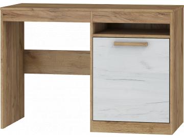 jednoduchý PC stolík MAXIMUS 1D craft zlaty craft biely