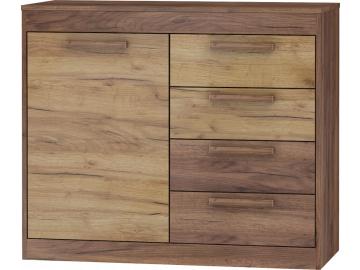 MAXIMUS Komoda 1D4S craft złoty craft biały