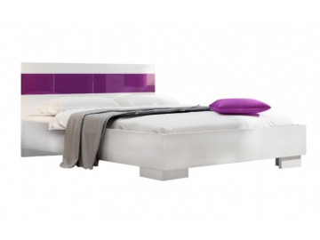 moderna biela manzelska postel DUBAJ biela fialova