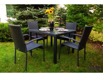 MS.010.001 Zestaw mebli stołowych ECCELLENTE czarne 5