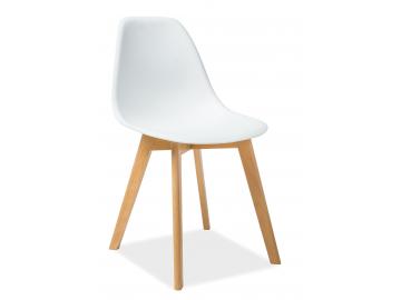 Jedálenská stolička MORIS biela