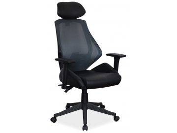 Jednoduché kancelárske kreslo Q 406 SZARY