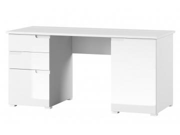 dokonalý PC stolík Selene v bielom prevedení
