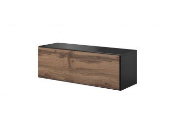 moderny biely matny TV stolik ROCO RO 1 korpus antracyt mat dvierka dub wotan mat 01